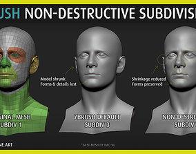 Poligone - ZBrush Non-Destructive 3D model