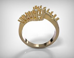 Jewelry Golden Wave Design Ring 3D printable model