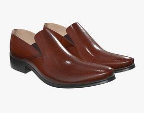3D model Mens classic shoes 02