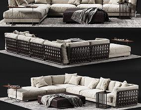 3D model FLEXFORM CESTONE Corner Sofa