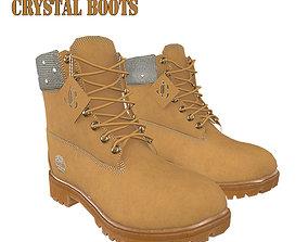 3D asset Jimmy Choo X Timberland Crystal Nubuck Boots 2
