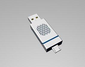 Blue and black OTG U Disk C 3D print model