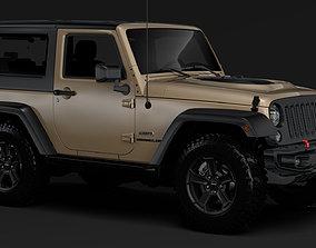 Jeep Wrangler Rubicon Recon JK 2017 3D