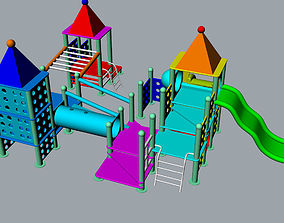 Children playground 3D Model slide