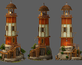 3D model animated Lighthouse