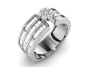 Women bride band ring 3dm render detail engagement