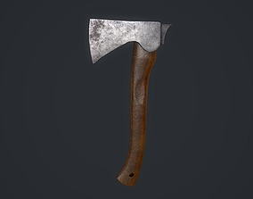Hatchet 3D asset VR / AR ready