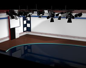 Virtual Studio 001 - News Studio 3D model