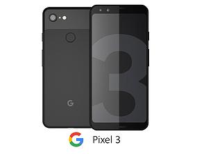 3D model Google Pixel 3 Black