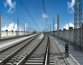 Railroad Track 3D