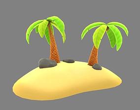 3D model Cartoon Palm Tree