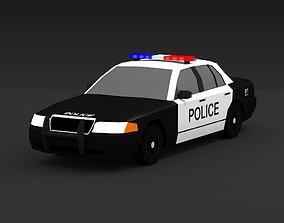 3D asset low-poly POLICE CAR