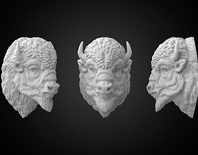 Bison Buffalo Head Sculpture 3D Printable
