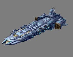 3D Battleship - medium ship 02
