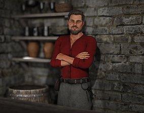 Fantasy Tavern Innkeeper - Fantasy Clothing 3D asset