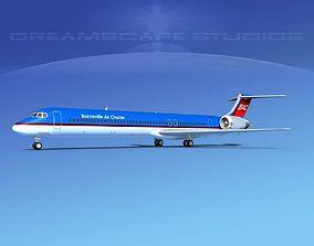 McDonnell Douglas MD83 Bonneville Air Charter 3D