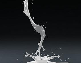 Splash 01 milk 3D