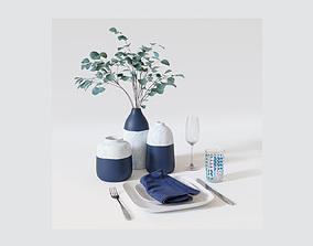 table setting 3D napkin