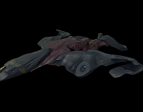 3D asset Spaceship Butterfly