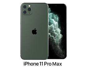 3D model Apple iPhone 11 Pro Max Midnight Green