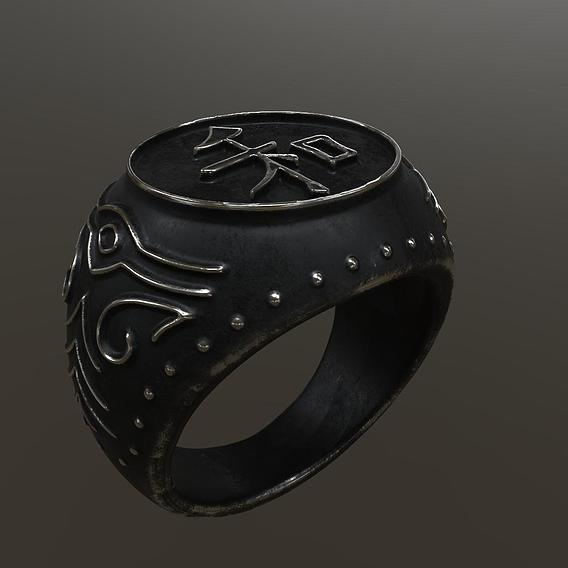 """Japanese style ring """"Peace"""""""