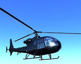3D model Airbus Helicopter H130 low-poly