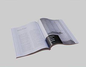 Open Magazine Lowpoly 3D model