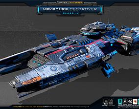 3D model Nakamura Destroyer - Class IV