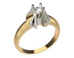 3D print model precious platinum Ring