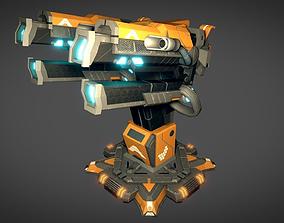 3D asset Sci Fi Plasma Cannon