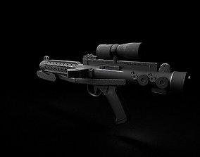 3D model Star Wars E-11 Blaster Rifle