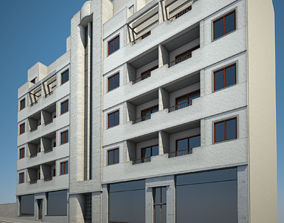 3D model Apartment Building 06