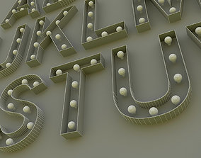 Light Bulbs Alphabet 3D model