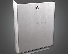 Towel Dispenser HPL - PBR Game Ready 3D model