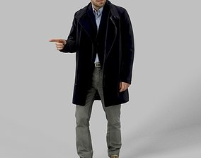 Filip Elegant Business Man in Walking While 3D model 2