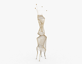 Wire Design Sculpture 3D model