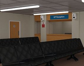 3D model Waiting Room for DAZ Studio