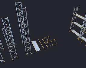 Warehouse Racks Shelves 3D asset low-poly