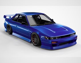 3D model Nissan Silvia S13 coupe BN Sports custom