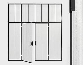 3D model Glass partition door 87