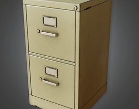 CLA - Filing Cabinet - PBR Game Ready 3D asset