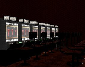 3D model Slot Machine Scene with individual assets