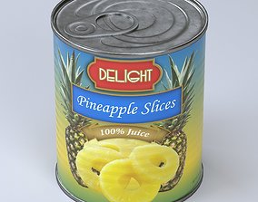 3D asset low-poly Canned Pineapple