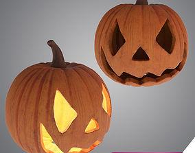 3D model game-ready Halloween Pumpkin