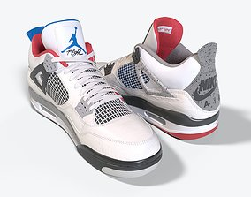 Air Jordan 4 What The 3D model