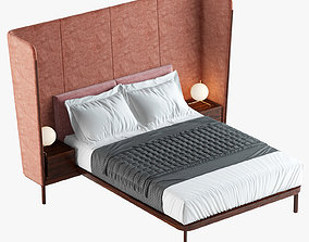 Tall Dubois Bed With Bedside Tables for De La Espeda 3D