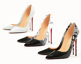 3D asset Christian Louboutin So Kate 120mm Black and White