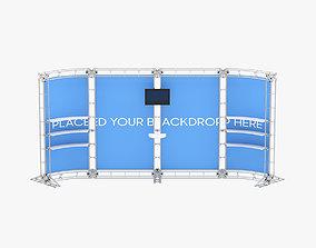 3D model Backdrop 8ft x 20ft Truss Backwall Display