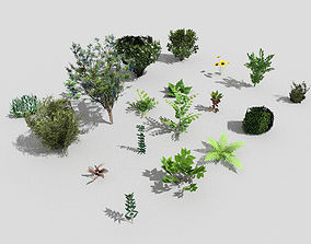 3D asset low poly foliage pack