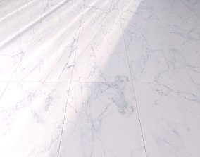 Marble Floor Classic Carrara White Set 3D model